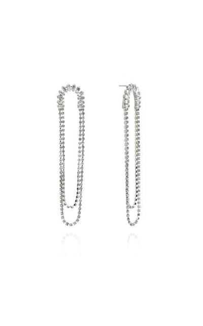 J.RAHEL Baguette Crystal Statement Chandelier  Earrings