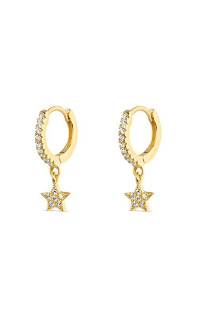 Mevecco Gold Dainty Star Earrings