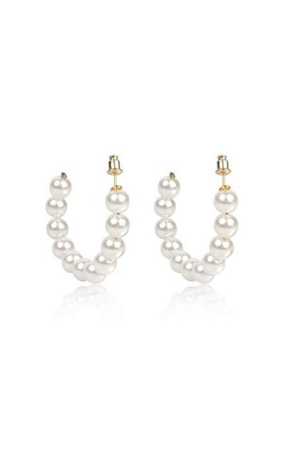 Believe London Pearl Hoop Earrings