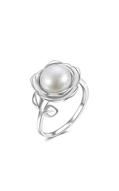 925 Sterling Silver Adjustable Flower Ring
