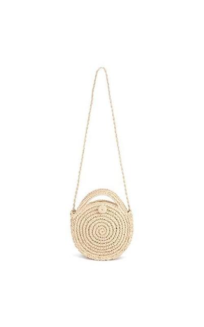 SHUIBIAN  Straw Crossbody Bag