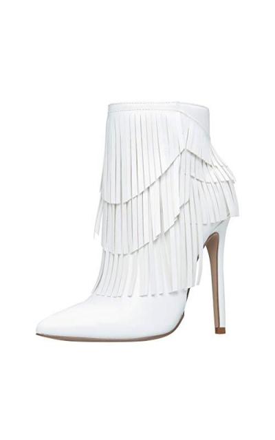 DENER01 Fringe Tassel Ankle Boots
