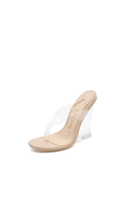 MACKIN J 405-10 Clear Wedge Slip On Mule Sandals