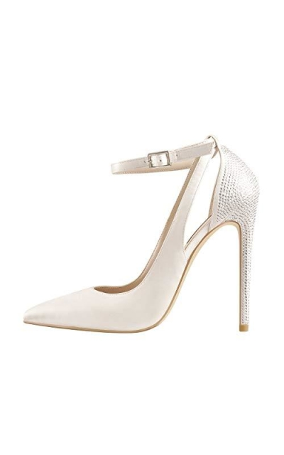 Onlymaker Pointed Toe One Band Stiletto Heel Pumps