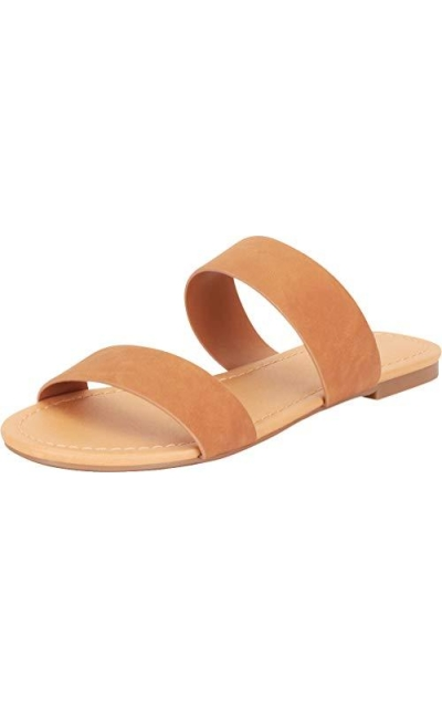 Cambridge Select  Classic Two-Strap Slide Sandal