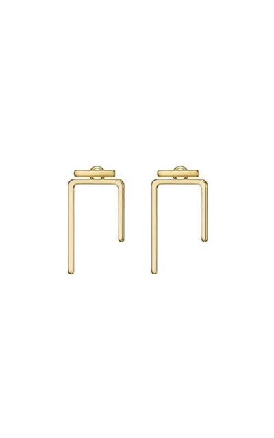 14K Gold Bar Earrings