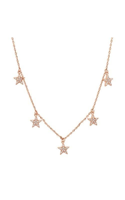 G.ROCK L.A Rose Gold Five Star Necklace