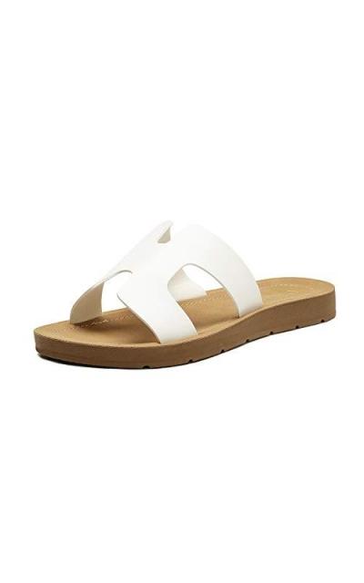 DREAM PAIRS Open Toe Slip on Sandals