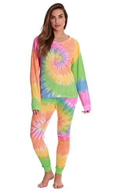 #followme Tie Dye Two Piece Thermal PJs