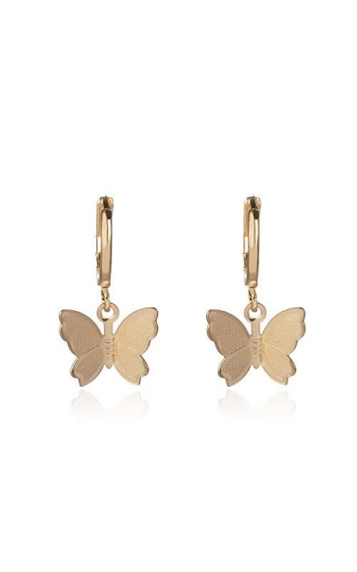 Jeweful Butterfly Earrings Dainty Gold Drop Earrings