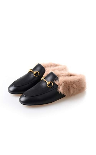COOLOOK Mules with Fur