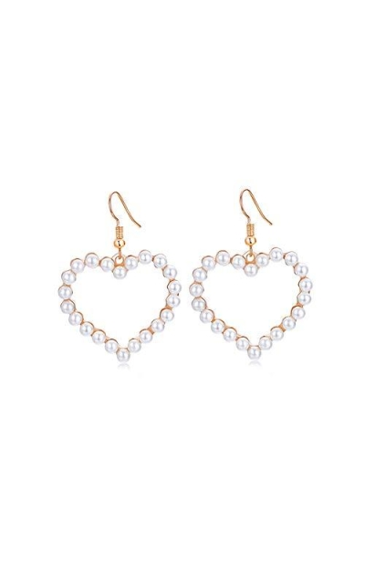 Rakumi Pearl Heart Earrings