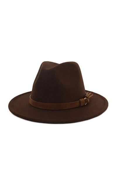 Lisianthus Vintage Wide Brim Fedora Hat