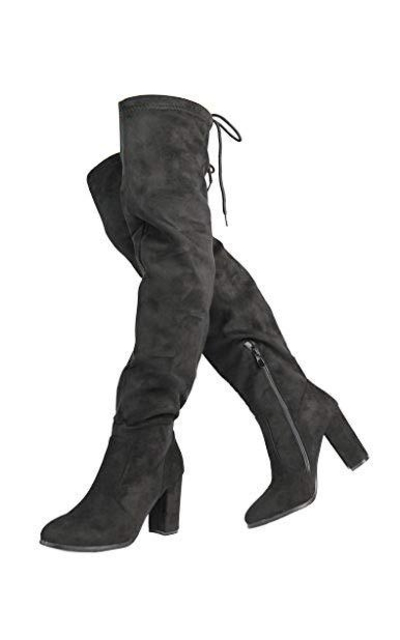 DREAM PAIRS New Shoo Black Over The Knee Boots