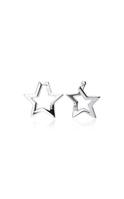 Minimalist Star Small Hoop Earrings