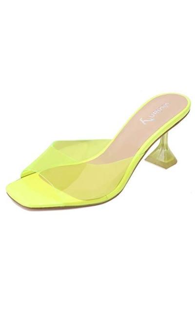 vivianly Clear Peep Toe Sandals