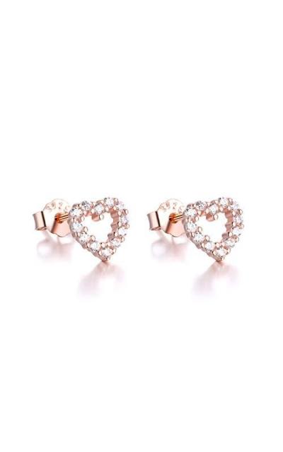 925 Sterling Silver Heart Stud Earring