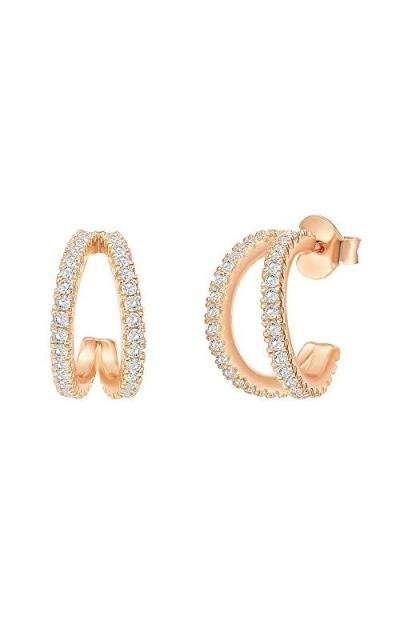 PAVOI 14K Gold Plated Split Hoop Huggie Earrings