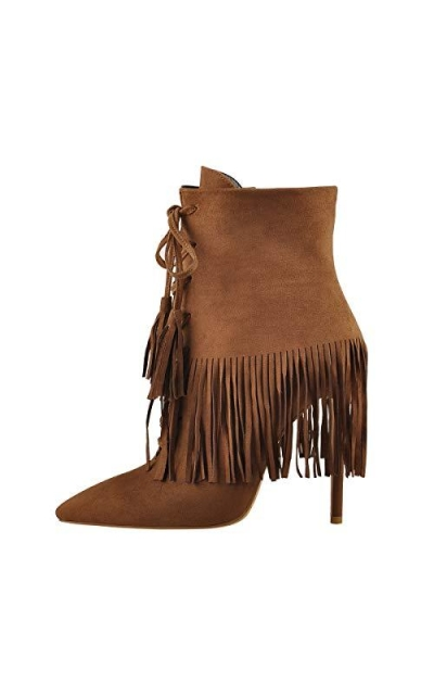 Onlymaker Fringes  Ankle Boots