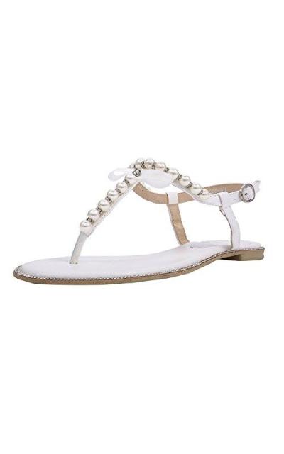 SheSole Rhinestone Flat Sandals
