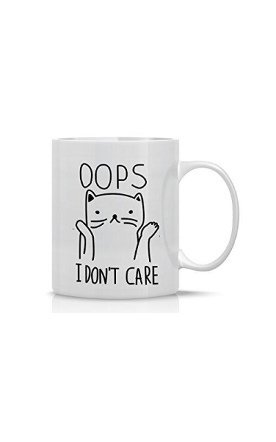 Oops… I Don't Care Cat Mug