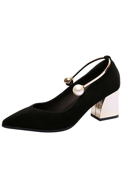 rismart Block  Pointed Toe Pumps