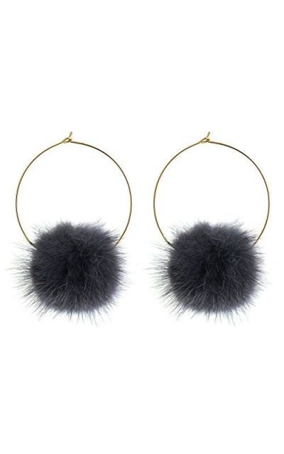 "D-DANGLE""Cutie"" Pom Pom Dangle Earring"