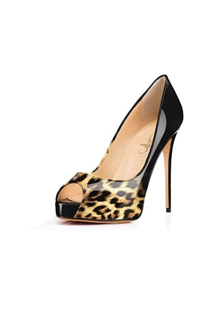 Peep Toe Hidden Platform Pumps