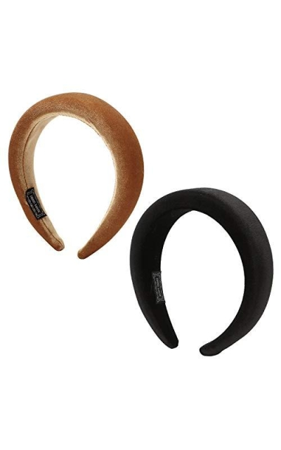 Folora 2pcs Padded Velvet Headbands