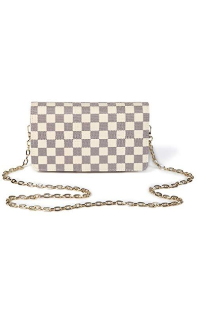 Daisy Rose Checkered Cross body bag
