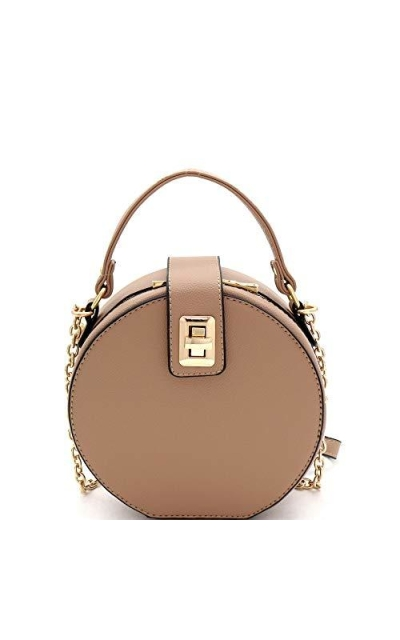 Medium Top-Handle Round Satchel Crossbody