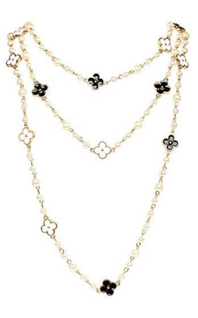 MISASHA Pearl Clover Strand Necklace