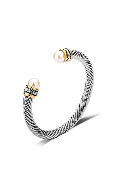 UNY Cable Pearl Bracelet Bangle