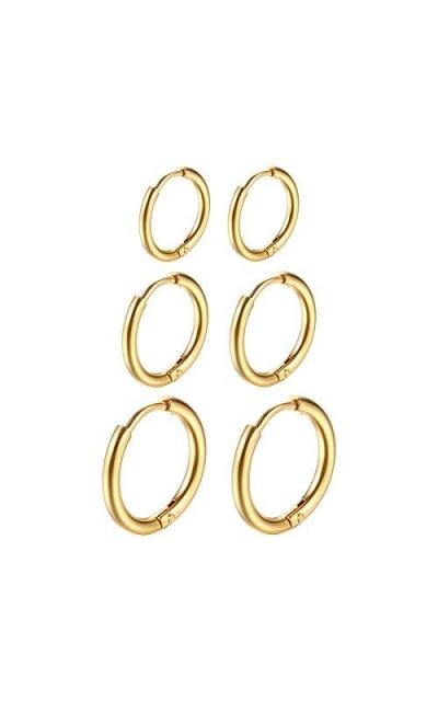 316L 8mm/10mm/12mm Huggie Earrings