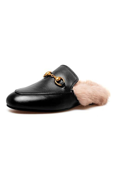 MAVIRS Leather Mule Loafers