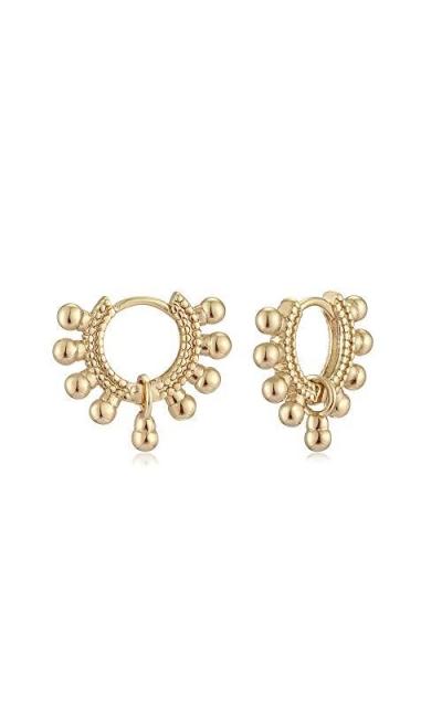 Mevecco Gold Dainty Huggie Hoop Earrings