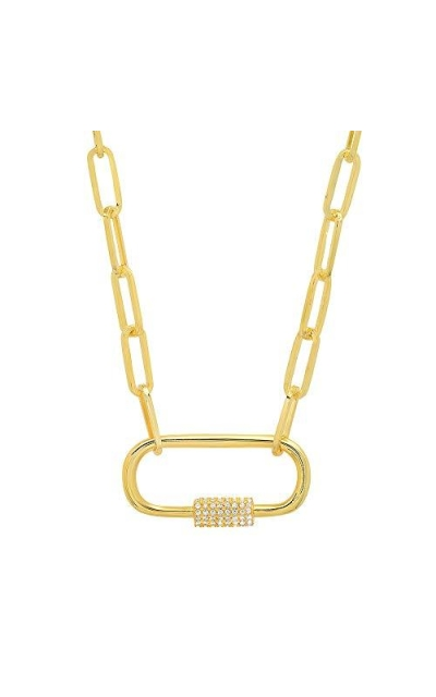G.ROCK L.A Square Lock Necklace