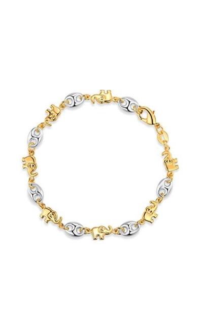 Barzel 18K Gold Plated Elephant Bracelets