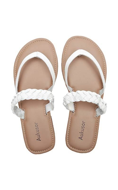 Aukusor Wide Width Flat Sandals