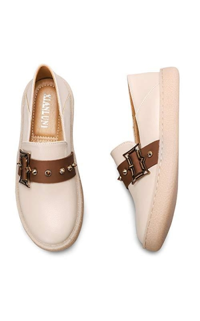 KEESKY Leather Flats Loafers