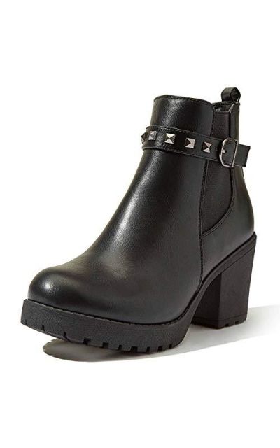 DailyShoes Chunky Ankle Bootie
