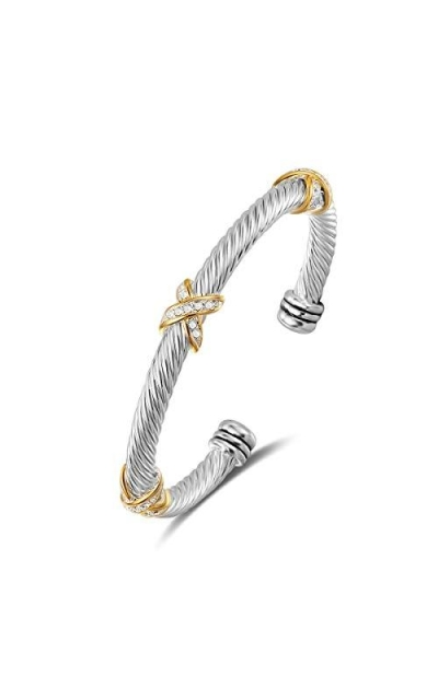 UNY Cross Cable Wire Bangle