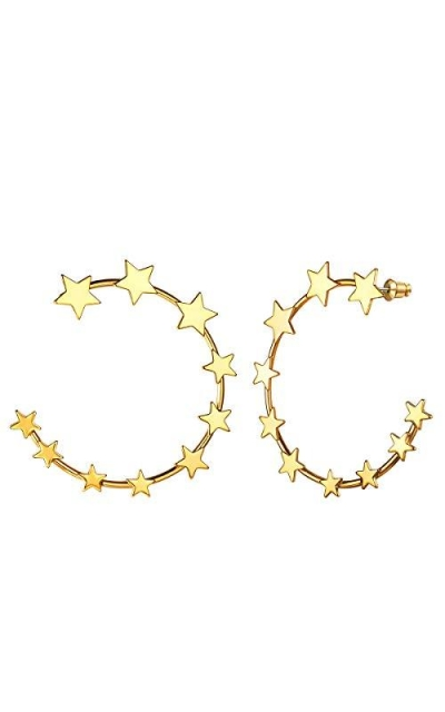 Star Earrings Hoops