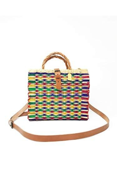 Cuckoo B Clarisa Portuguese Reed Basket Handbag