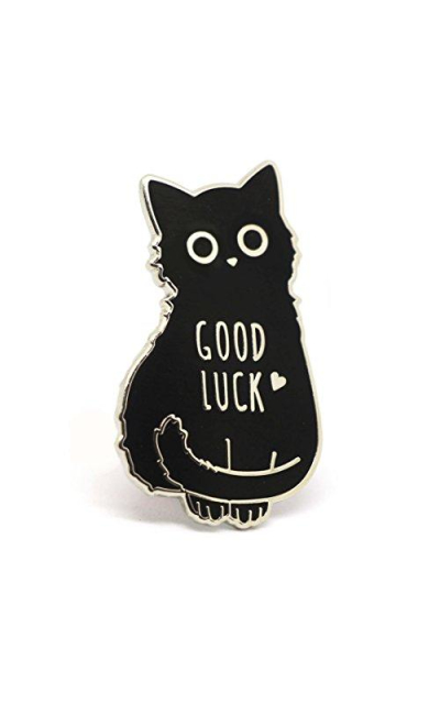 Good Luck Cat Enamel Pin