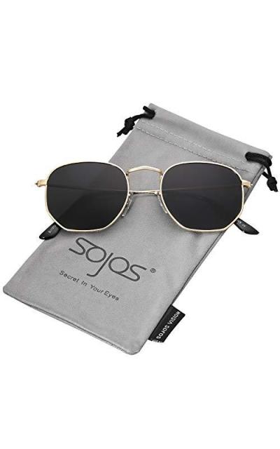 SOJOS Small Square Polarized Sunglasses