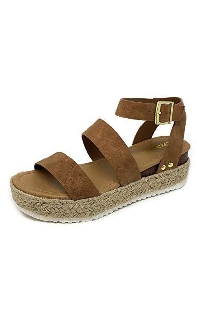 SODA Flatform Espadrille Sandals
