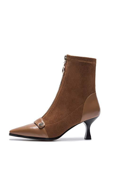 Nine Seven Suede Leather Ankle Boots