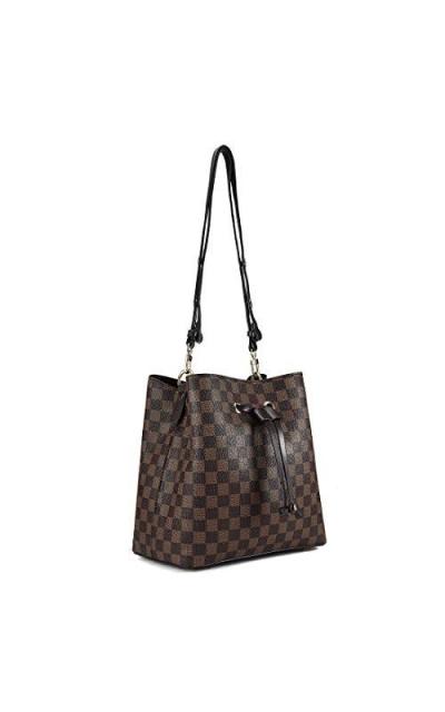 Checkered Drawstring Bag