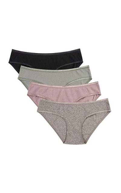 Knitlord Cotton Stretch Bikini Panties 4 Pack